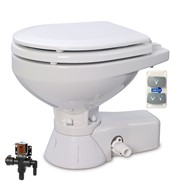 QUIET FLUSH ELECTRIC TOILET Fresh water flush models, Compact bowl size, 24 volt dc