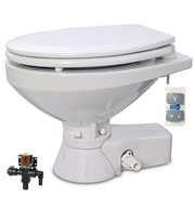 QUIET FLUSH ELECTRIC TOILET Fresh water flush models, Regular bowl size, 12 volt dc