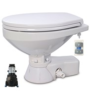 QUIET FLUSH ELECTRIC TOILET Sea or river water flush models, Regular bowl size, 24 volt dc
