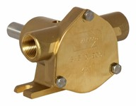 "3/8"" bronze pump, <b>10-size</b>, foot-mounted with BSP threaded ports"